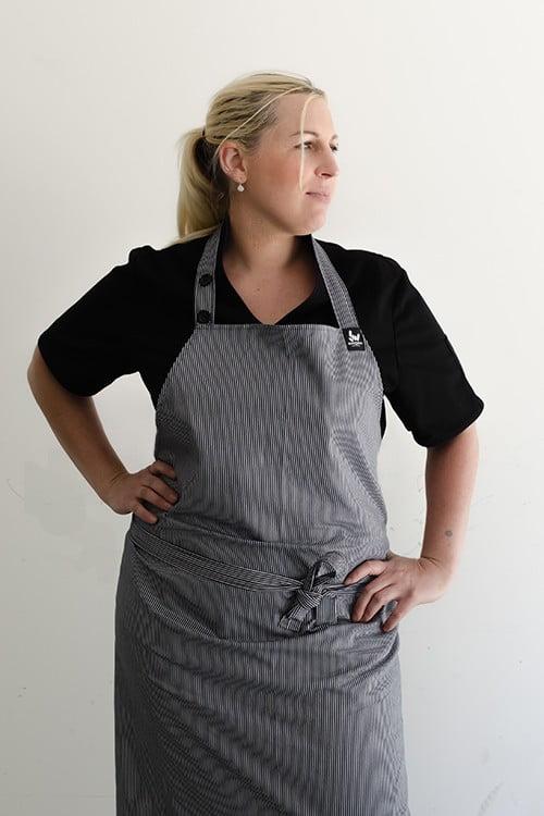 Chefs butcher apron. whitestripes
