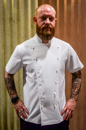 Plain Wayne – White Short Sleeve Mens Chef Jacket
