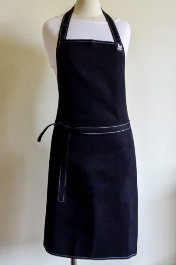 white stitch apron