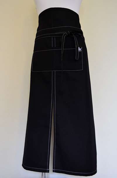 Long black apron