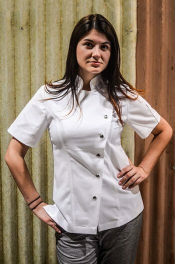 womens white chef jacket