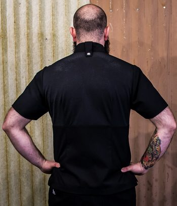 mesh back chef jacket