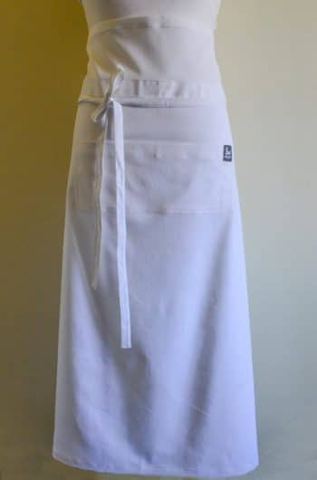 Waisted White Apron