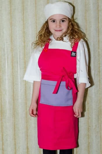 pink and purple kids chef apron