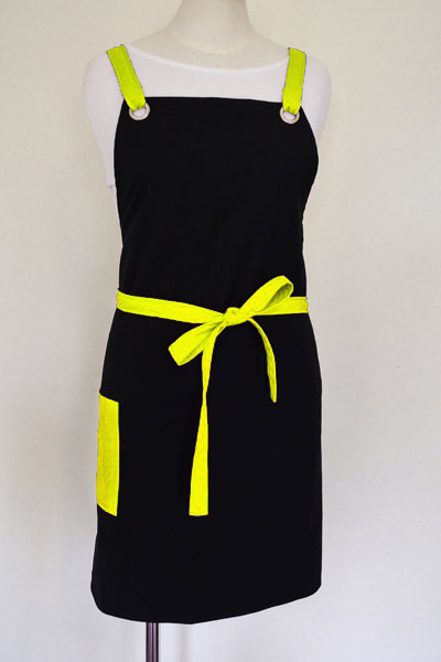 Yellow and Black Apron