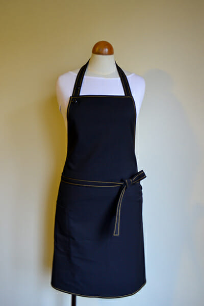 copper stictch apron