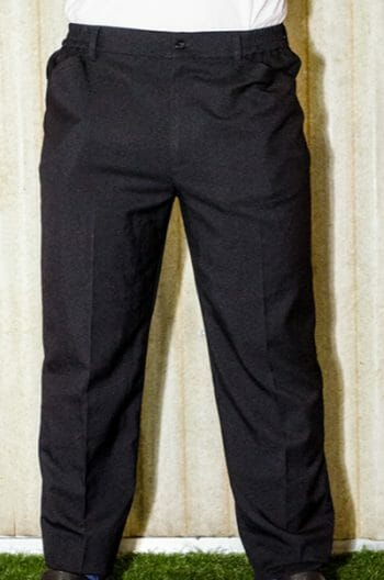 Men's Black Waiter Pants