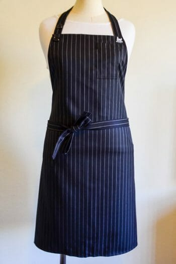 black Pinstripe chefs apron
