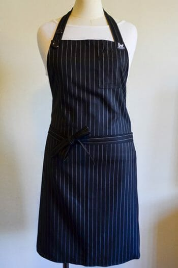 Black Pin Stripe Chefs Apron