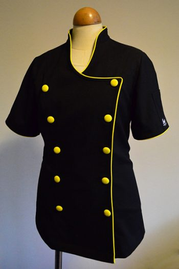 YELLOW & BLACK WOMEN'S ROCKZETTE CHEF JACKET