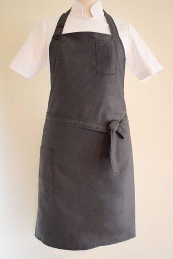 Grey apron