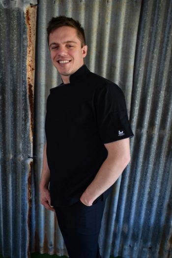 Black zipper chef jacket