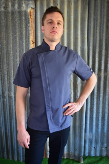 Grey Zipper chef Jacket