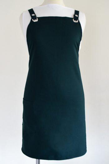 bottle Green criss cross strap apron